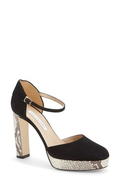 How darling are these Diane von Furstenberg platform pumps? These beauties would look totally up-town chic with a fit & flare dress and a mini-satchel.