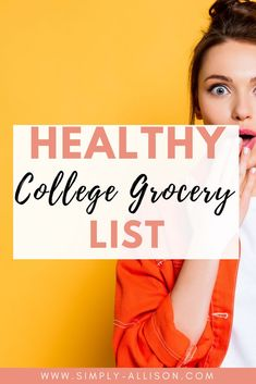 Need a college grocery list on a budget. Here is a healthy and cheap college grocery list that is perfect for a student on a budget or need to be organized.#collegegrocerylist #collegegrocerylistonabudget #healthycollegegrocerylist College Student Grocery List, College Dorm Food, College Meals, College Fun, Grocery Lists, Easy Meals For One, Cheap Easy Meals, Healthy College Snacks, Cooking A Roast