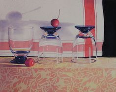 watercolor painting art by Janice Sayles Waiting For A Drink