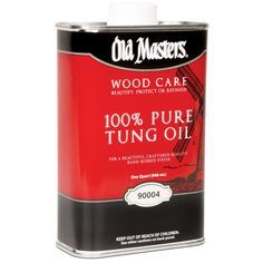 Old Masters 90004 1 Quart 100% Pure Tung Oil