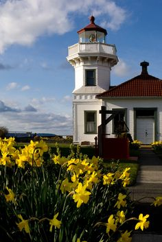 Mukilteo Lighthouse - near Whidbey Island - largest island in Puget Sound