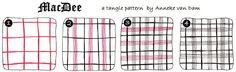 Anneke (Merry-Go-Round): New tangle pattern: MacDee