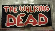 Walking Dead logo from perler beads.