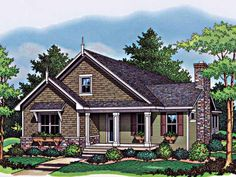 Country House Plan with 1599 Square Feet and 3 Bedrooms from Dream Home Source Ranch House Plans, Cottage House Plans, Craftsman House Plans, Cottage Homes, House Floor Plans, European House Plans, Country Style House Plans, Modern House Plans, Small House Plans