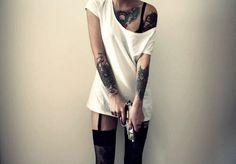 Female Tattoos Body Gun