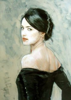 Oil Painting Artist   the glance by william oxer traditional art paintings people 2012 2015 ...
