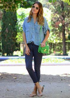 Hora de Diva: De olho na tendência: Jeans Poá!!!