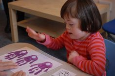 Resources for teaching children with Down Syndrome. Working on language and sensory skills and everyday skills children must know in order to succeed. Down Syndrome Activities, Down Syndrome And Autism, Down Syndrome Awareness, Teaching Activities, Infant Activities, Teaching Kids, Playdough Activities, Motor Activities, Educational Activities