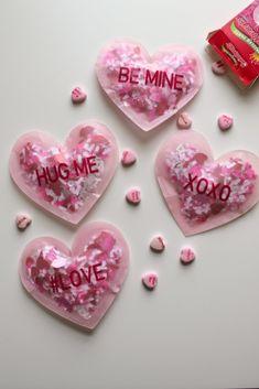 DIY Confetti Filled Conversation Heart Valentines Diy Confetti, Converse With Heart, Conversation, Diy Projects, Valentines, Create, Valentine's Day Diy, Valentine's Day, Handmade Crafts