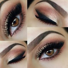 super flattering peach eye shadow for brown eyes. http://thepageantplanet.com/category/hair-and-makeup/