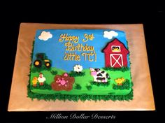 Farm Sheet Cake ~Buttercream~ Million Dollar Desserts