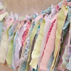 Fabric Garland - so #shabbychic!