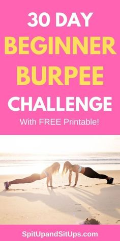 Are you ready to crush those burpees? Check out my 30 day beginner burpee challenge with a how-to on doing the perfect burpee. Breakfast Smoothies For Weight Loss, Weight Loss Smoothie Recipes, Weight Loss Snacks, Fast Weight Loss, Weight Loss Tips, How To Lose Weight Fast, Breakfast Recipes, Burpee Challenge, Weight Loss Challenge