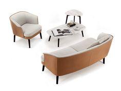 NIVOLA Armchair by Poltrona Frau design Roberto Lazzeroni