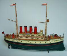 "1910 Carette ""Passagierdampfer"" 50 cm - 20 "" - excellenter Originalzustand"