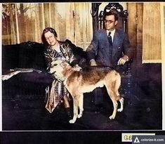 Eugene Talmadge and His wife and dog between sometime after his Governorship ended in 1937