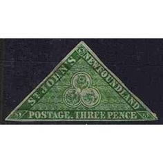 British colonies - New Foundland Triangular and cut postage stamp Gems And Minerals, Stamp Collecting, Postage Stamps, Colonial, Postcards, Triangle, Coins, Royalty, British