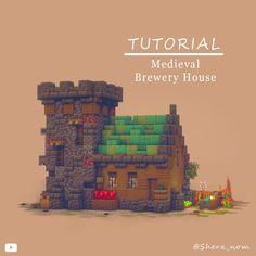 Minecraft Plans, Minecraft Creations, Minecraft Projects, Minecraft Crafts, Minecraft Designs, Minecraft Houses, Minecraft Garden, Minecraft Stuff, Brewery Design