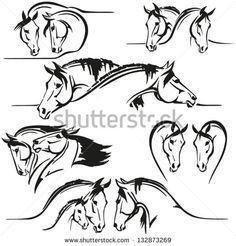 Afbeeldingsresultaat voor fine line boxer and horse tattoo