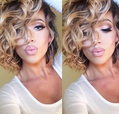 body wave perm before and after pictures Curly Bob Hairstyles, Pretty Hairstyles, Curly Hair Styles, Natural Hair Styles, Hairstyles Haircuts, Ethnic Hairstyles, Hairstyles Pictures, Bob Haircuts, Quick Hairstyles