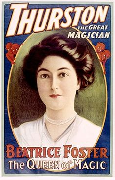Beatrice Fleming Foster #posters #magician #magic poster
