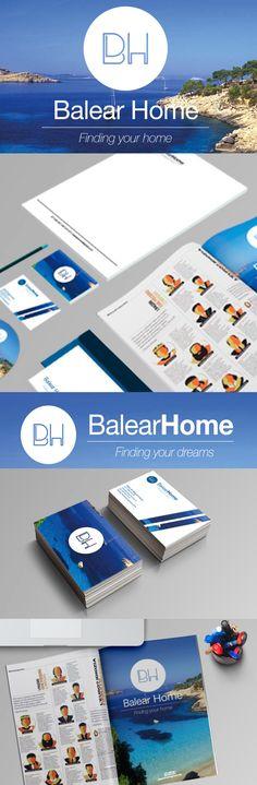 Logotipo BALEAR HOME Diseño Triloby estudio Vaquer Puigcerver Creativity
