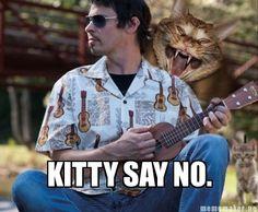 KITTY SAY NO.