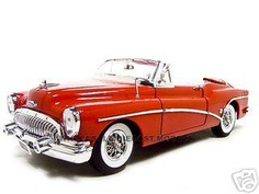 1953 Buick Skylark Diecast Model Red 1/18 Die Cast Car By Motormax