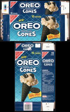 Nabisco - Oreo Chocolate Cones box - 1990's | Flickr - Photo Sharing!