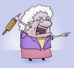 cartoon angry old woman. Cartoon Jokes, Cartoon Images, Cartoon Characters, Fictional Characters, Old People Cartoon, Bad Grandma, Angry Women, Clip Art Pictures, Famous Cartoons