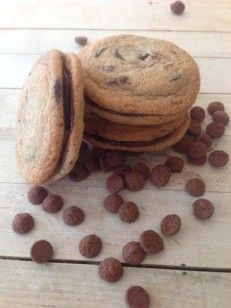 Spiced Double Chocolate Chip Cookie Sandwhiches