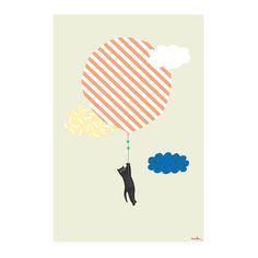 Katze Poster MIMI'lou Materialien : Papier Farbe : Blass-Grün 60 x 40 cm. Details : In einem Rohr geliefert Hergestellt in : Frankreich
