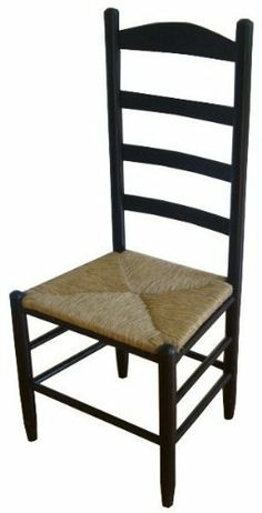 42 in. Woven Seat Ladderback Chair (Black) by Dixie Seating. $119.42. Made of solid ash hardwood. Made in the USA. Rush seat. Finish: Black. Classic large Shaker style ladder back chair. A ladder style back and woven rush seat bring an old world, farmhouse inspired style to this side chair, making it an appealing way to bring a country spirit to any decor. Constructed of wood in your choice of finishes, the chair will be an enduring choice for any decor. Classic large Sh...