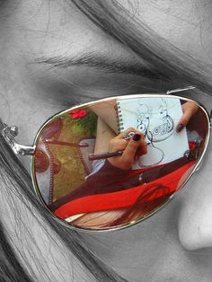 Tammy London shot this image of her friend drawing. I think it is a beautiful capture, especially in relation to the eye, the art, and the soul.