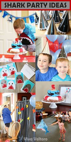 Throw a killer party with these shark birthday party ideas! This would be great for shark week too!