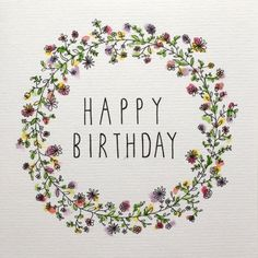 HAPPY BIRTHDAY CARD - illustrative floral watercolour design by SamanthaGoodger on Etsy https://www.etsy.com/listing/254109932/happy-birthday-card-illustrative-floral