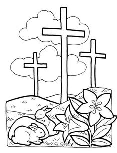 Resurrection Coloring Page to include with a letter to your ...