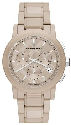 Beautiful Burberry watch with ceramic bracelet http://rstyle.me/n/ezffdnyg6