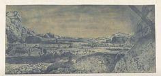Bergvallei met omheinde velden, Hercules Segers, ca. 1615 - ca. 1630. Beeld: Rijksmuseum