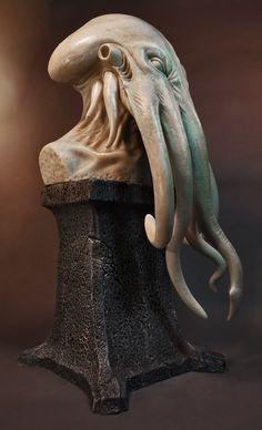 alien squid bust