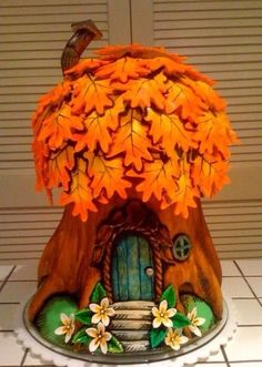 Fairy-tale tree-house cake