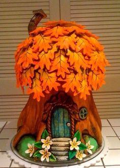 Fairy-tale tree-house cake