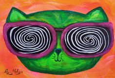 #hypnotize #cat #painting