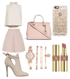 """""""Like a boss"""" by emmymofield ❤ liked on Polyvore featuring Jimmy Choo, TIBI, Alexander McQueen, Michael Kors, Casetify, Anne Klein, Yves Saint Laurent, women's clothing, women and female"""