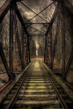 Abandoned Bridge (HDR) by Keith  Dobbs, via 500px