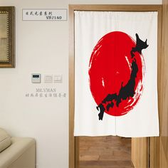 Nice Curtains Japanese Elements Series Digital Printing Door Curtain Polyester Mouldproof Door Curtain Household Decorative Part #Affiliate