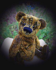 Sullivan, a one of a kind, artist bear made from vintage mohair, a charming bear and companion. £150.00, via Etsy.