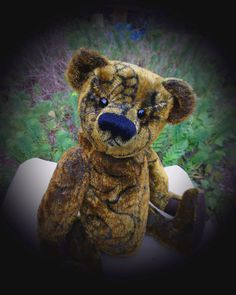 Sullivan, a one of a kind, artist bear made from vintage mohair, a charming bear and companion. £150.00, via Etsy.