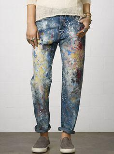 denim & supply paint splatter jeans, spring 2014