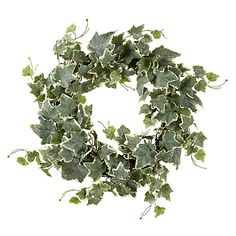 Buy John Lewis Snowdrift Frosted Ivy Wreath Online at johnlewis.com